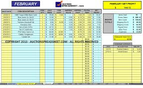 Free Accounting Spreadsheet Sales Spreadsheet Templates Free 20 Images Ebay Spreadsheet