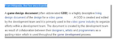 video game design document the manuscript part 1