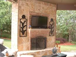 modern outdoor fireplace with tv cpmpublishingcom