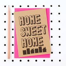 housewarming card home sweet home new home housewarming card by scissor monkeys