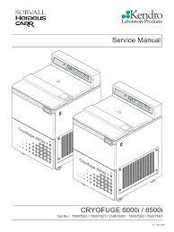 heraeus cryofuge 6000i 8500i service manual centrifuge ac