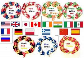 colored rubber bracelet images Country flag colored rubber band bracelets bunglebands jpg