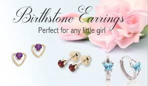 Children S Birthstone Jewelry Kids Birthstone Earrings Children U0027s Birthstone Earrings