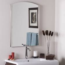 Frameless Molten Wall Mirror by Bathroom Fancy Double Frameless Bathroom Mirrors With Bathroom