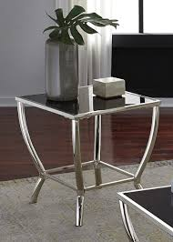 black glass top end tables new end table chrome finish black glass top calgary furniture