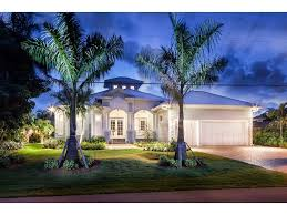 Florida Style Homes Key West Style Beach House Waterfront Royal Harbor In Naples