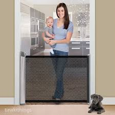 Retractable Room Divider Retractable Safety Baby Pet Gate Indoor Dog Barrier Door Way Home