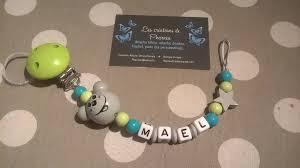 perle en bois pour attache tetine attache tétine sucette personnalisé avec prénom tête souris 3d