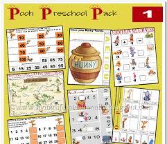 free winnie pooh preschool printable pack