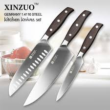 kitchen knives german xinzuo kitchen tools 3 pcs kitchen knife set utility chef satoku