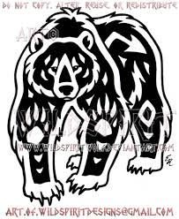 navajo grizzly bear tribal design by wildspiritwolf on deviantart