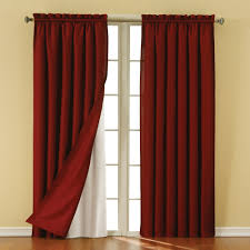 Walmart Red Grommet Curtains by Decorating Eclipse Curtains Cassidy Blackout White Polyester