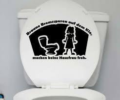 wc sprüche wc deckel aufkleber bremsspuren toilette spruch badezimmer klo bad