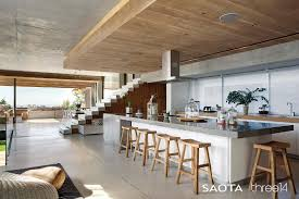 concrete interior design contemporary chic house with a comfortable and relaxed atmosphere
