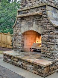 Outdoor Chimney Fireplace by How To Build An Outdoor Fireplace Hgtv