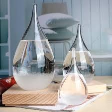 home decor ornaments modern rainstorm glass tempo drop mini weather forecast bottle