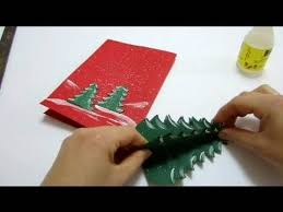 create a christmas card christmas cards pop up card how to make a pop up tree card