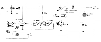 cmos battery powered electric fence charger circuit diagram world