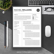 best selling resume template professional modern resume design