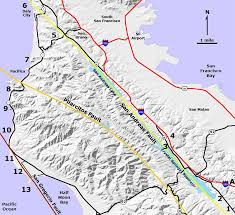 san francisco fault map san andreas and the linear lakes of california s i 280 mobile ranger