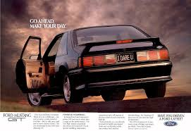 ford mustang ads 1992 ford mustang gt ad usa a photo on flickriver