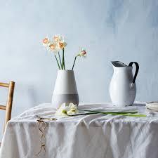 White Ceramic Jug Vase White U0026 Gray Ceramic Vase Vase Tabletop Hawkins New York
