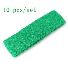 basketball headbands green unisex cotton sports basketball headbands tennis