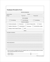 theft report form template employee discipline form template business