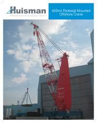Pedestal Crane 600mt Pedestal Mounted Offshore Crane Huisman Pdf Catalogues