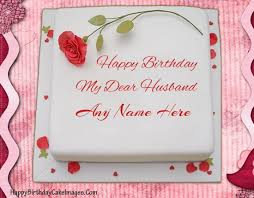 send a birthday cake for husband with his name wrote on it to make