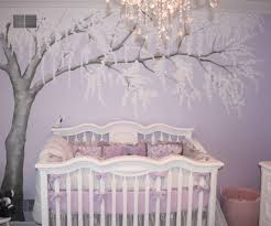 Nursery Room Wall Decor Glamorous And Wonderful Baby Room Ideas Purple With Trees