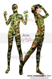full body lycra spandex zentai suit camouflage tights zentai