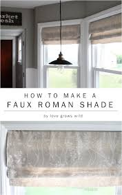 Floor To Ceiling Tension Rod Curtain by How To Make A Faux Roman Shade Love Grows Wild