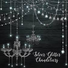 Diamond Chandeliers Silver Glitter Chandeliers Clipart Graphics Creative Market