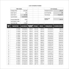 Schedule Template In Excel Amortization Schedule Template 7 Free Word Excel Pdf Format