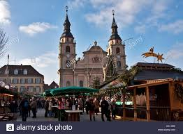 christmas craft market at ludwigsberg germany shoppers at stock