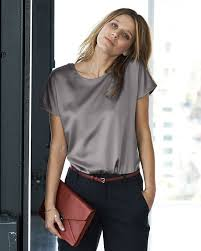 grey silk blouse gray silk shirt 2017 style york fashion