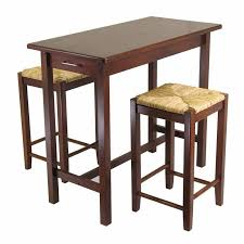 bar stool table set of 2 winsome wood 29 in rush seat bar stool walnut set of 2 hayneedle