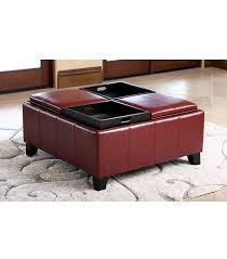 ottomans u0026 benches vincent convertible ottoman red