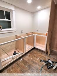 how to build base cabinets with kreg jig how i built my lower base cabinets and drawers in the pantry