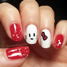 miss ruby nails hello kitty nails
