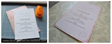 diy wedding menu cards wedding invitation templates create easy diy invites