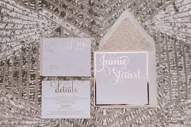 gold foil wedding invitations blush and gold