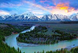 Wyoming rivers images Rivers beautiful mountains sky water valley bend river snowy jpg