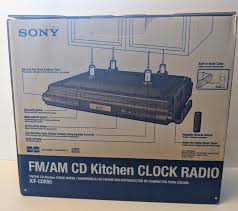 sony icf cdk50 clock radio ebay
