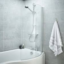 Bathroom Shower Screen Seals 1400 Curved Shower Bath Screen At Plumbing Uk