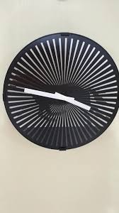 mk time patented round moving clock wall horse motion clock for