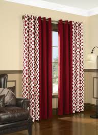 Walmart Red Grommet Curtains by Amazon Com Trellis Thermalogic Red 80