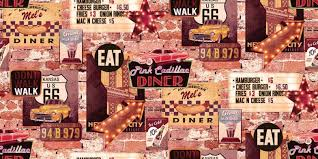 american wallpaper american diner by arthouse multi wallpaper direct