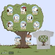 peanuts snoopy s family tree comic strips characters